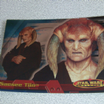 Star Wars Evolution topps 2001 Saesee Tiin Foil card